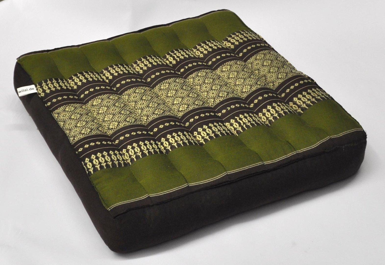 sitzkissen mittel braun gr n. Black Bedroom Furniture Sets. Home Design Ideas