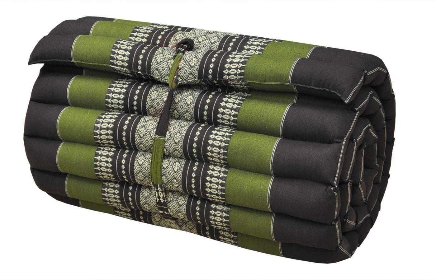 rollmatte schmal braun gr n. Black Bedroom Furniture Sets. Home Design Ideas